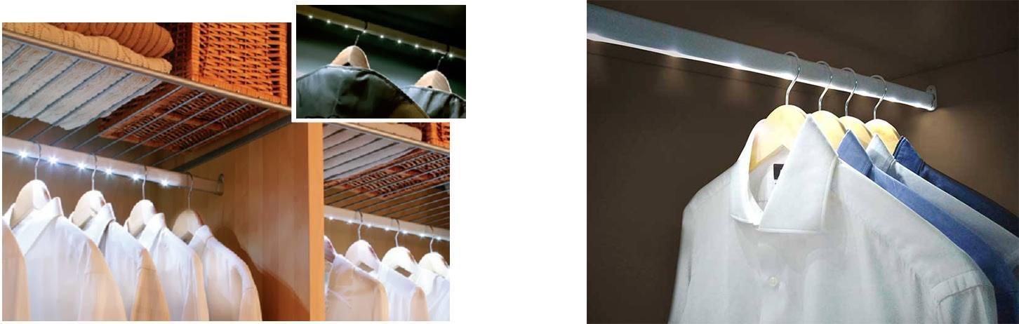 Instalaciones de iluminaci n led para el armario o - Iluminacion interior armarios ...